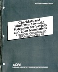 Checklists and illustrative financial statements for savings and loan associations : a financial reporting practice aid, November 1990 edition