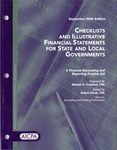 Checklists and illustrative financial statements for state and local governmental units : a financial reporting practice aid, September 2006 edition