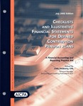 Checklists and illustrative financial statements for defined contribution pension plans : a financial accounting and reporting practice aid, July 2002 edition