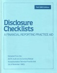 Disclosure checklists : a financial reporting practice aid, November 1983