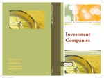 Investment companies, with conforming changes as of May 1, 2008; Audit and accounting guide