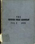 Certified public accountant, 1923 Vol. 2