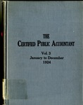 Certified public accountant, 1924 Vol. 3