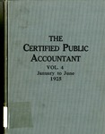 Certified public accountant, 1925 Vol. 4, January-June