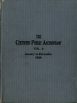 Certified public accountant, 1929 Vol. 9