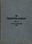 Certified public accountant, 1930 Vol. 10
