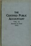 Certified public accountant, 1932 Vol. 12 January-June