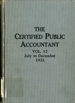 Certified public accountant, 1932 Vol. 12 July-December