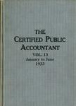Certified public accountant, 1933 Vol. 13 January-June