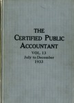 Certified public accountant, 1933 Vol. 13 July-December