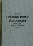 Certified public accountant, 1934 Vol. 14 July-December