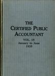 Certified public accountant, 1935 Vol. 15 January-June