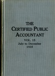 Certified public accountant, 1935 Vol. 15 July-December