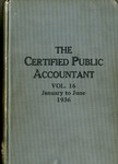 Certified public accountant, 1936 Vol. 16 January-June