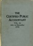 Certified public accountant, 1936 Vol. 16 June-December