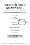 Certified public Accountant, 1940