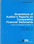 Illustrations of auditor's reports on comparative financial statements : a survey of the application of SAS no. 15; Financial report survey, 18