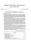 Bankruptcy problems;; Letter-Bulletin, 6