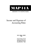 Income and expenses of accounting firms, first annual survey 1962; Management of an accounting practice bulletin, MAP 14a