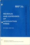 Revenue and expenses of accounting firms, 2nd annual survey 1963; Management of an accounting practice bulletin, MAP 14b