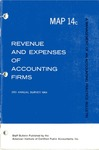 Revenue and expenses of accounting firms, 3rd annual survey 1964; Management of an accounting practice bulletin, MAP 14c