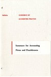 Insurance for accounting firms and practitioners; Economics of accounting practice, bulletin 10