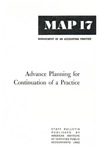 Advance planning for continuation of a practice; Management of an accounting practice bulletin, MAP 17