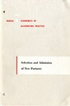 Selection and admission of new partners; Economics of accounting practice, bulletin 07