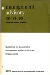 Guidelines for cooperative management advisory services engagements; Management advisory services guideline series, no. 5