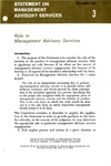 Role in management advisory services; Statement on management advisory services 3