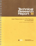 User responses to CPA reports on forecasts
