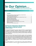 In our opinion… , vol. 22 no. 1, Winter 2006 by American Institute of Certified Public Accountants. Audit and Attest Standards Team