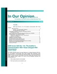 In our opinion… , vol. 22 no. 4, Fall 2006