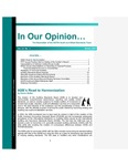 In our opinion… , vol. 23 no. 1, Winter 2007 by American Institute of Certified Public Accountants. Audit and Attest Standards Team