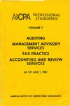 AICPA Professional Standards: Accounting and Review Standards as of June 1, 1981