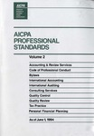 AICPA Professional Standards: Accounting and Review Standards as of June 1, 1994