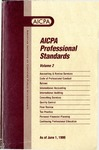 AICPA Professional Standards: Accounting and Review Standards as of June 1, 1999