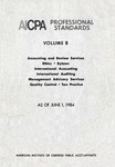 AICPA Professional Standards: Quality control as of June 1, 1984
