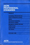 AICPA Professional Standards: Quality control as of June 1, 1991