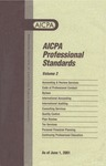 AICPA Professional Standards: Quality control as of June 1, 2001