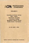 AICPA Professional Standards: Management advisory services as of June 1, 1985