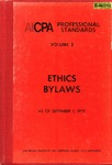 AICPA Professional Standards: Ethics, Bylaws as of September 1, 1975