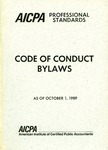 AICPA Professional standards: Code of conduct, Bylaws, as of October 1, 1989