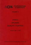 AICPA Professional Standards: Ethics, Bylaws as of July 1, 1977