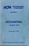 AICPA Professional Standards: Accounting Current text as of July 1, 1976
