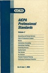 AICPA professional standards: Code of professional conduct and bylaws as of June 1, 2002;  Code of professional conduct as of June 1, 2002;  Bylaws as of June 1, 2002