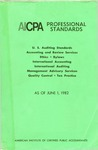AICPA Professional Standards: U.S. Auditing Standards as of June 1, 1982