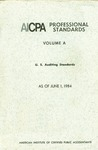 AICPA Professional Standards: U.S. Auditing Standards as of June 1, 1984
