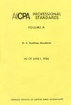 AICPA Professional Standards: U.S. Auditing Standards as of June 1, 1986