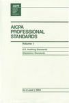 AICPA Professional Standards: U.S. Auditing Standards as of June 1, 1994